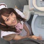 ご主人様の放尿した後の汚いチンコをフェラチオで掃除するかわいいメイドさん