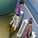 公衆トイレの男子便所で立ちションする女の子【アニメ】