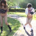 女の子を下半身丸出しで歩かせ放尿させる