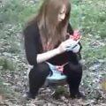 尿意の限界から野外放尿するギャル3連発