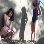 スク水で野外放尿する女達