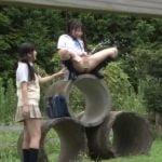 田舎の女子校生は野外放尿がし放題!